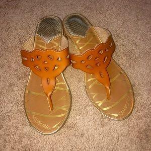 3. Sam & Libby Wedge thong sandals 7.5